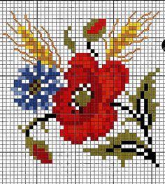 Punto croce - Schemi e Ricami gratuiti: Grande raccolta di papaveri a punto croce