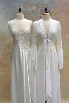 Bridal Pearls of Wisdom: New Bridal Peignoir Lingerie for Lingerie Vintage, Pretty Lingerie, Luxury Lingerie, Beautiful Lingerie, Beautiful Dresses, Bridal Nightwear, Wedding Lingerie, Honeymoon Lingerie, Bridal Nightgown