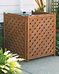 Lattice screen to hide ugly transformers, AC units etc.