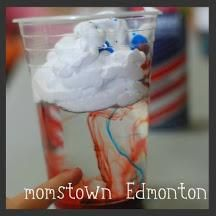 Shaving foam, water and colour! Create Your Own Rainstorm | momstown Edmonton