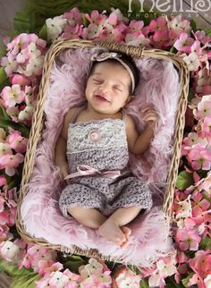 Newborn Crochet Outfit  Romper and Headband  by BloomingLoops