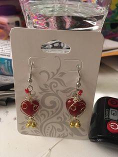 """Twisted Heart Earrings"" for sale on my etsy shop! $12.00 a pair!   #twisted #heart #hearts #romantic #sweetheart #earrings #handmade #forsale"