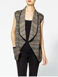 Rhyme & Echo Aztec Print Sweater Vest