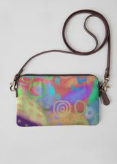 Leather Statement Clutch - abstract houses by VIDA VIDA 2aBnAc5K