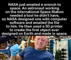 NASA just emailed a wrench to space...