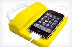 Retro Handset with Dock Stand for iPhone.