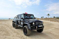 BRABUS 6x6 at Ibiza Beach