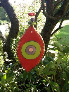 Windspiele - Windspiel,Keramik, Blickfang, Deko - ein Designerstück von Bodenseekeramik bei DaWanda