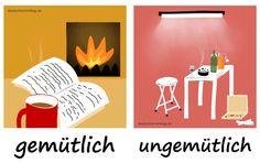 gemütlich_ungemütlich_Adjektive_Gegensatzpaare_deutschlernerblog