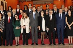 King Felipe VI of Spain and Queen Letizia of Spain attended the Delivery Gold Medals of Merit in Fine Arts 2014 at Bellas Artes Museum on December 2, 2015 in Sevilla, Spain.