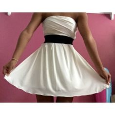 Macy's/Speechless White Dress Worn Once! • Small Blue Pen Mark On Bottom Front Of Dress (Probably Fixable) Speechless Dresses Strapless