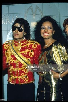 Entertainer Michael Jackson stands with singer Diana Ross at the American Music Awards January 17, 1984 in Los Angeles, CA. Jackson received eight awards at the AM Music awards including, Favorite Male Vocalist and Favorite Album for the top selling 'Thriller.'