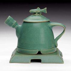 Beautiful Teapot by Michigan Artist John Herbon
