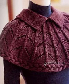 Discover thousands of images about Crochet poncho Crochet Cape, Knitted Poncho, Knitted Shawls, Knit Crochet, Loom Knitting, Knitting Patterns Free, Knit Patterns, Free Knitting, Free Pattern
