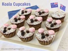 A Spoonful of Sugar: Koala Cupcakes Aussie Food, Australian Food, Animal Cupcakes, Monster Cupcakes, Australia Day Celebrations, Beach Ball Cake, Number Cakes, Caking It Up, Edible Food