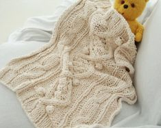 KNITTING PATTERN for chunky cotton cable knit por BiscuitScout