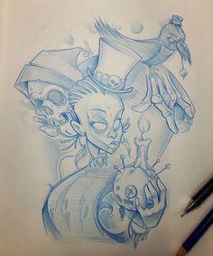 Voodoo thema  #ozer #tattoo #tatouage #ironink #nantes #loveletters #graffiti…