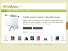 Create Amazing Slideshows From Web Content With Slidestaxx