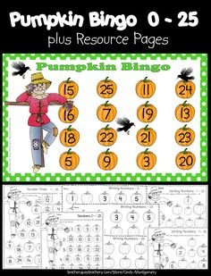 Use this cute Pumpkin Bingo activity along with the additional resource pages for a Fall, Pumpkin or Scarecrow Unit or just for fun to reinforce the numbers 0 - Learning Activities, Teaching Resources, Teacher Helper, Cute Pumpkin, Future Classroom, Autumn Theme, Social Skills, Bingo, Second Grade