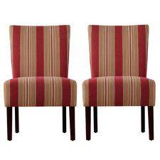Dunley Fabric Slipper Chair (Set of 2)