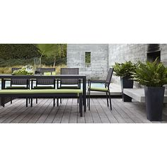Alfresco Grey Rectangular Dining Table in Alfresco Grey | Crate and Barrel
