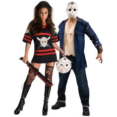 Deluxe Miss Voorhees and Friday the 13th Jason Couples Costume - On Sale Today!