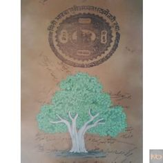 Miniature handpainted tree on aged paper with natural color₹12,000