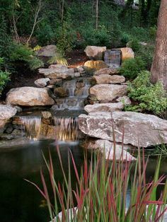backyard the healing power water features waterfall and pond feature