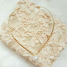 Pearl collar necklace Brand new without tags.  Absolutely stunning piece! One size fits all - just slip it around your neck.  A versatile piece that works beautifully for all occasions. Jewelry Necklaces