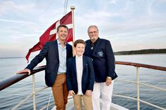 Three generations: Crown Prince Frederik of Denmark with his son Prince Christian and his father Prince Henrik