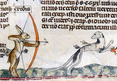 leporid's revenge 'The Smithfield Decretals' (Decretals of Gregory IX with glossa ordinaria), Tolouse ca. 1300, illuminations added in London ca. 1340. British Library, Royal 10 E IV, fol. 62r