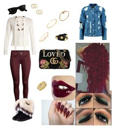 """""""Untitled #34"""" by mcgoverncaitlinl on Polyvore featuring Joseph, Boohoo, WithChic, Gucci, Ray-Ban, Henri Bendel and Cartier"""