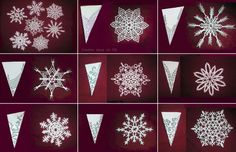 xmas snow flakes with paper