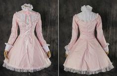 M-3152-rosa-pink-classic-Lolita-Kleid-dress-Cosplay-Kostuem-costume-nach-Mass