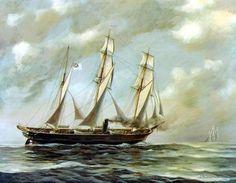 CSS Alabama - Ship    - Vintage  Image. $4.90, via Etsy.