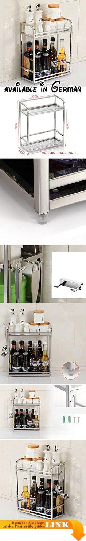 B078FR15DW  Holz Küchenwagen mit drei Falten SchubladenAmbrogio - küchenwagen mit schubladen
