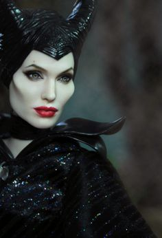 #pinned from Collecting Fashion Dolls by Terri Gold: Maleficent Doll Transformed by Noel Cruz #dollchat ^kv