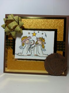 Christmas angels Christmas Angels, Christmas Cards, Handmade Christmas, Handmade Cards, Frame, Home Decor, Christmas E Cards, Craft Cards, Picture Frame