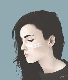 Imagem de girl, art, and illustration