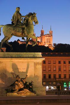 France, Lyon, Place Bellecour.