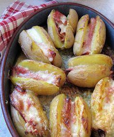 la cuisine d'ici et d'isca: jacket potatoes au jambon & au