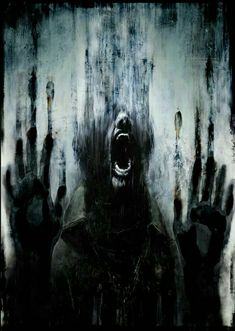 Masahiro Ito's artwork used for the Japanese box art of Silent Hill: Downpour. Michel Leiris, Depression Art, Urbane Kunst, Silent Hill, My Demons, Wow Art, Horror Art, Horror Movies, Dark Fantasy