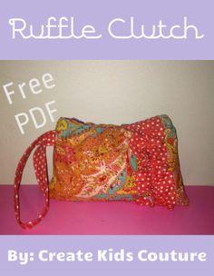 Ruffle Zipper Clutch - Free Pattern from Create Kids Couture