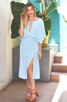 Dress Elissa Midi - Afago Party Bridal Dresses, Bridesmaid Dresses, Wrap Dress, Dress Up, Maria Jose, Dress Codes, Short Dresses, Classy, Gowns