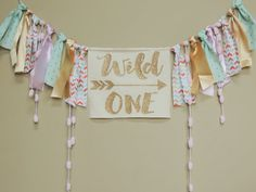 Wild One Boho Girls Birthday party Banner Coral Mint Gold Pink Aztec Tribal Cake Smash Photo Prop / Teepe / Nursery Decor Pow wow Boho by JadeandJoStudio on Etsy One Year Birthday, Wild One Birthday Party, Baby Girl 1st Birthday, First Birthday Parties, First Birthdays, Birthday Ideas, Birthday Photos, Pink Und Gold, Mint Gold