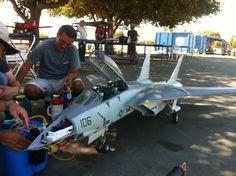 RC turbine jet F14 Scale Large