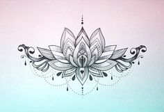 The Lotus Mandala is the symbolic representation of enlightenment. Resting your gaze on the lotus mandala can enlighten your spirit and enhance your mental growth. Lower Back Tattoo Designs, Lower Back Tattoos, Lower Stomach Tattoos, Lower Chest Tattoo, Neue Tattoos, Body Art Tattoos, Tatoos, Back Tattoo Women, Tattoos For Women