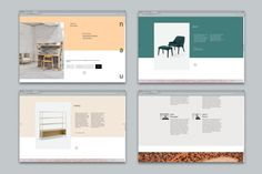 Brand identity and website by Design by Toko for Cult's new contemporary furniture range NAU