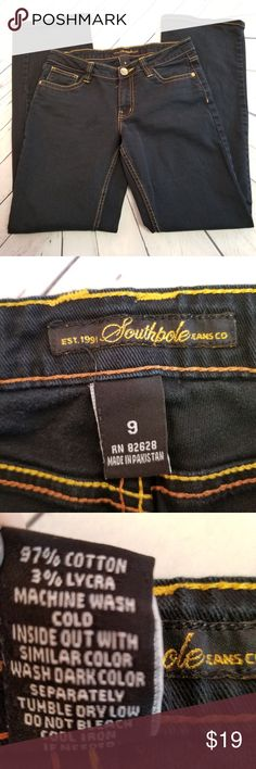 """South Pole Boot Cut Women's Jeans Dark Blue Size 9 South Pole Boot Cut Women's/Junior Jeans Dark Blue Size 9  No rips, tears or stains. Excellent condition. Very clean and smoke free. Waist 30"""" Inseam 30 1/2"""" South Pole Jeans"""