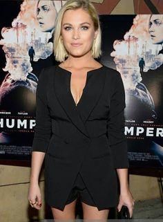 """Eliza at the premiere of """"Thumper"""" in Los Angeles yesterday."""